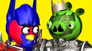 ANGRY BIRDS as TRANSFORMERS ♫ 3D animated  movie mashup pt.2  ☺ FunVideoTV - Style ;-))