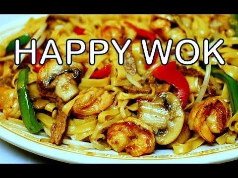 麵條蝦牛肉 Stir Fry Noodle with Shrimp and Beef. Authentic Cantonese Cooking.