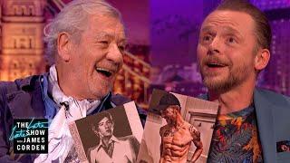 Hot Ian McKellen & Hot Simon Pegg Are Head Turners - #LateLateLondon