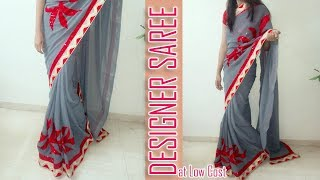 How to make Amazing Patch Work Designer Saree at home | Make Designer Saree at home