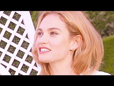 Lily James Hot INTERVIEW Vogue Sexy Ralph Lauren Summer Party Hot Wimbledon 2015 CARJAM TV