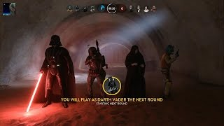 Star Wars Battlefront - Outer Rim DLC Heroes vs Villains Gameplay PS4 60fps (No Commentary)