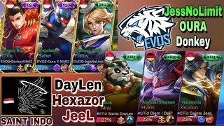 SERU Nih !! EVOS (jessNolimit,oura,donkey) VS SAINT INDO (Daylen,Hexazor,Jeel) di Rank Match MLBB