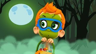 Nonny and other mermaids on Halloween. Bubble Guppies in the game Nick Jr.