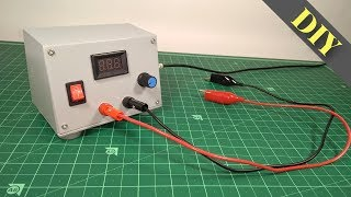 How to make DC Adjustable Voltage Power Supply at Home Easily | DIY