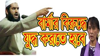 বার্মার বিরুদ্ধে মুখ খুললেন ! Allama Mamunul Haque