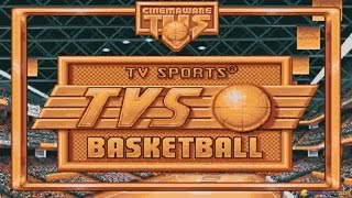 TV Sports: Basketball gameplay (PC Game, 1990)
