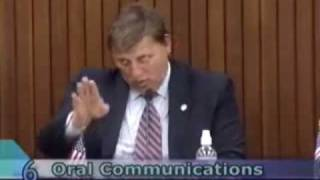 Mayor Ejects Citizen from Council Meeting, gets called a SOB