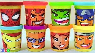 Play Doh Marvel Avengers Assemble Can Heads Plastilina de Los Vengadores