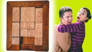 SOLVED 81 MOVES! Hua Rong Dao Sliding Klotski PUZZLE *Halloween Special*