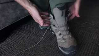 Quick Tip: How to lace hiking boots for a secure fit