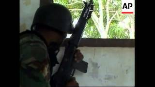 Government and rebel forces in fighting