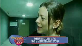 Fabiola Herra llega al país tras la muerte de Gabriel Badilla