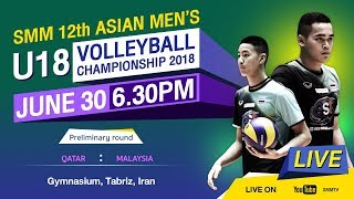 Qatar vs Malaysia | Preliminary | SMM 12th ASIAN MEN