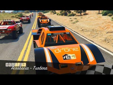 CAMIÓN VS MOTO ¿QUIÉN GANARÁ GTA V ONLINE Carreras Acrobáticas 229 GTA 5 Gameplay