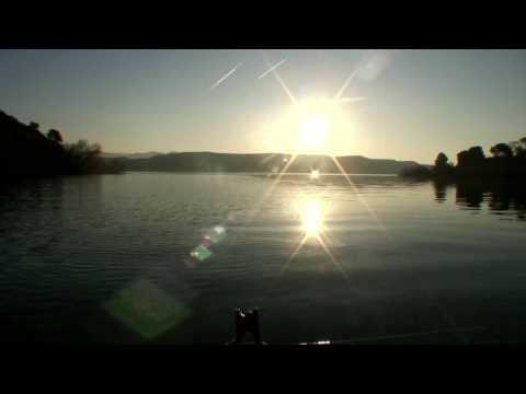 Fischen Zander Walleys Lake Caspe Ebro Spanien