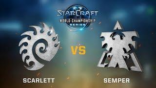 StarCraft 2 - Scarlett vs. Semper (ZvT) - WCS Jönköping Challenger NA - Playoffs Day #1 Semis