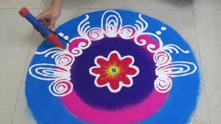 Diwali special Easy and beautiful rangoli