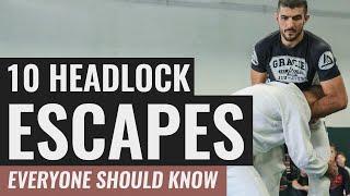 10 Headlock Escapes EVERYONE Should Know!