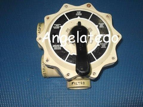 Piscinas Cómo funciona una válvula selectora o llave selectora de un filtro de piscina