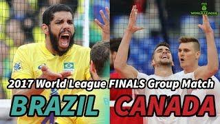 Brazil vs. Canada - World League 2017 FINALS - ALL BREAKS REMOVED
