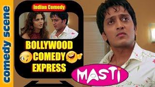 Riteish Deshmukh Comedy Scene {HD} | Bollywood Comedy Express | Masti | Indiancomedy