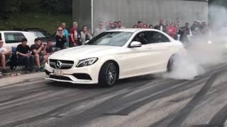 BURNOUT!! Worthersee 2017 Mercedes C63 AMG 2k17 sabotnig V8 BiTurbo