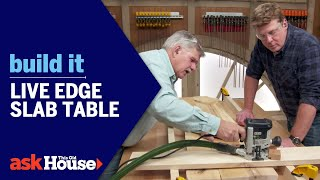 Build It | Live Edge Slab Table