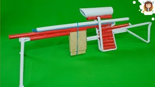 How To Make a Paper Sniper Rifle - (Shoots 5 Bullets)