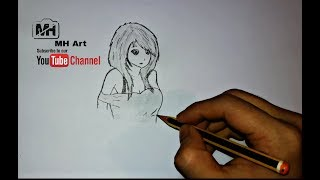 easy drawing supper hot girl (only pancil art)