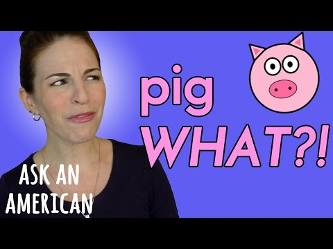 PIG LATIN in the USA...what is that?!