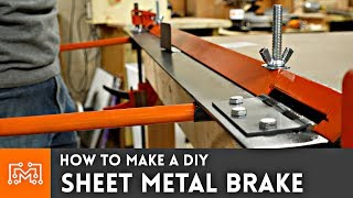 How to make a DIY sheet metal brake