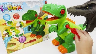 Novo Dinossauro T-Rex Com Rodinha! Monta e Desmonta de Verdade Com Chavinha de Brinquedo