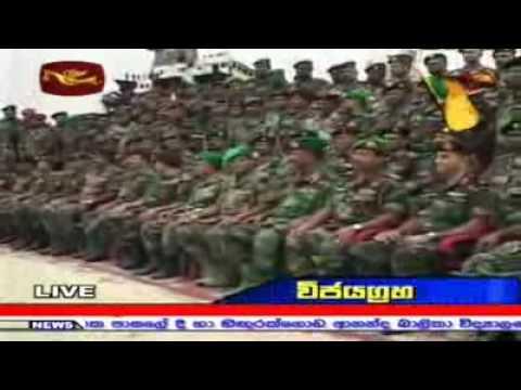 Sri Lanka Army Ceremonially Silences their Guns