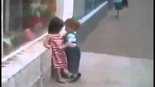 little boy and girl romance
