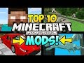 """TOP 10 MINECRAFT POCKET EDITION MODS"" (Minecraft Top 10 PE Mods, iOS, Android, Minecraft Mods)"