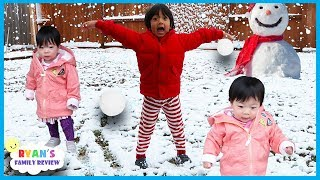 Twin Babies First Time Seeing Snow With Ryan's Family Review