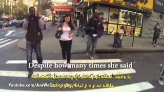 مقایسه پیاده روی با حجاب و بدون حجاب در نیویورک