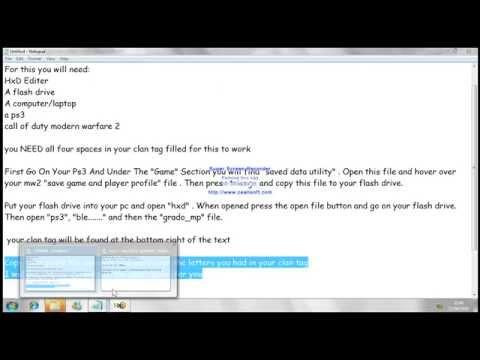 MW2 Clan Tag Hack Tutorial PS3