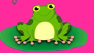 Five Little Speckled Frogs Nursery Rhyme | Cartoon Animation Songs For Children