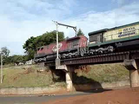 Trem da ALL em São Carlos