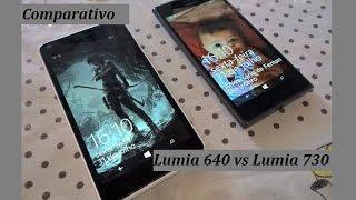 Microsoft Lumia 640 vs Nokia Lumia 730 [ Comparativo ] PT BR