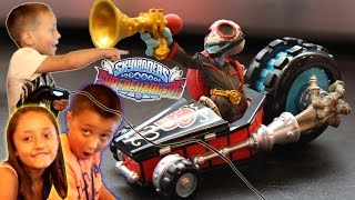 Dad & Kids play Skylanders Superchargers! All Mods & Attacks of Fiesta, Amiibo & Vehicles