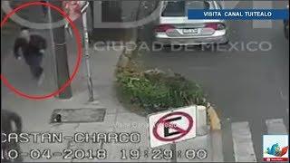 Así fue el asalto a David Zepeda en la CDMX Video Actor persigue y captura a delincuente