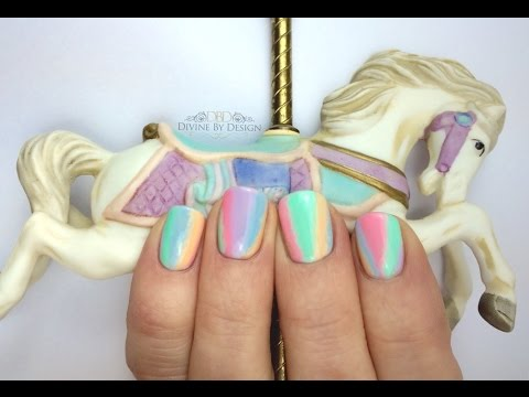 Pastel Carousel Nail Art (Using Gel II / Gel 2)