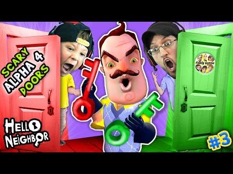 Xxx Mp4 HELLO NEIGHBOR NIGHTMARE DOORS OF DEATH ALPHA 4 DOUBLE JUMP Mini Game W Red Green Key FGTEEV 3 3gp Sex