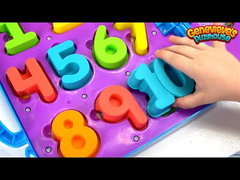 Learn Numbers for Toddlers Teach Counting with Genevieve and Cookie Monster on the Go Numbers Toy