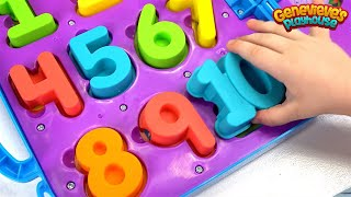 Learn Numbers for Toddlers Teach Counting with Genevieve and Cookie Monster on the Go Numbers Toy!