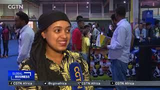 Sophia the robot on tour in Ethiopia