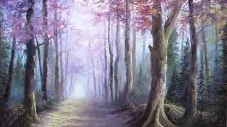 Misty Forest Trees | Paint with Kevin ®